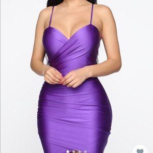 Purple - Midnight Dance Mini Dress